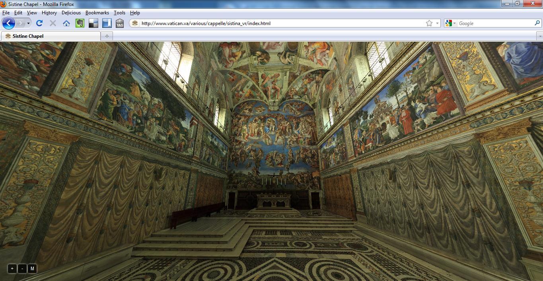 Virtual Tour of the Sistine Chapel on Vatican Website ...
