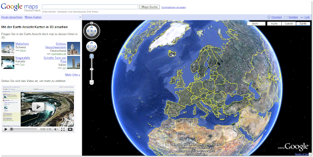 Google Earth-Ansicht in Maps