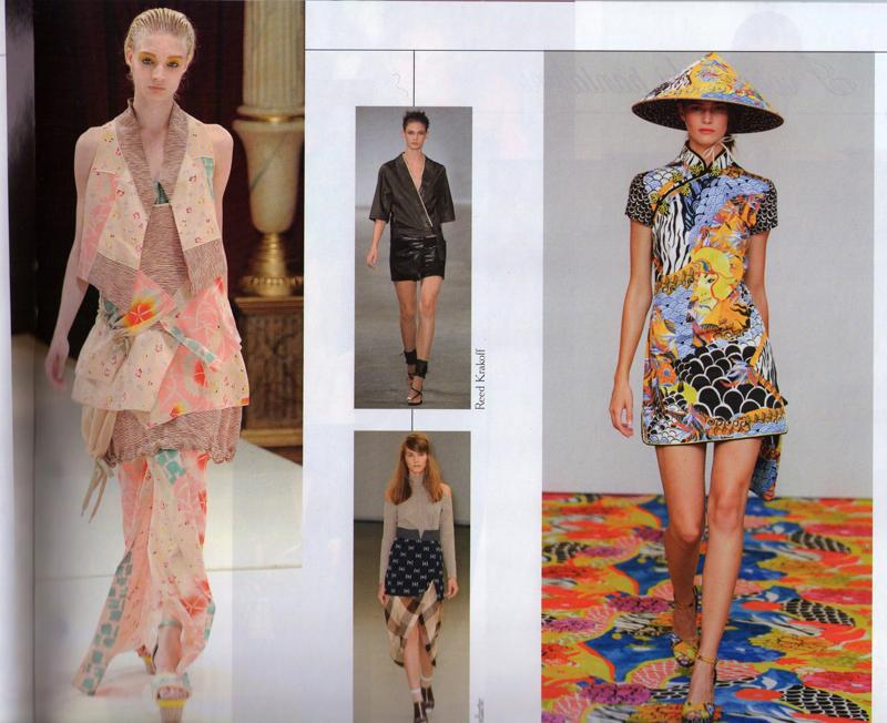 8060972dac I was immediately drawn to Kenzo's by Antonio Marras asian but soft colors  piece and Philosophy di Alberta Ferretti hat and dress.