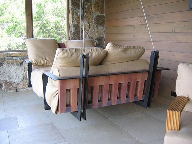 Dishfunctional designs this aint yer grandmas porch swing diy sleigh swing bed solutioingenieria Gallery