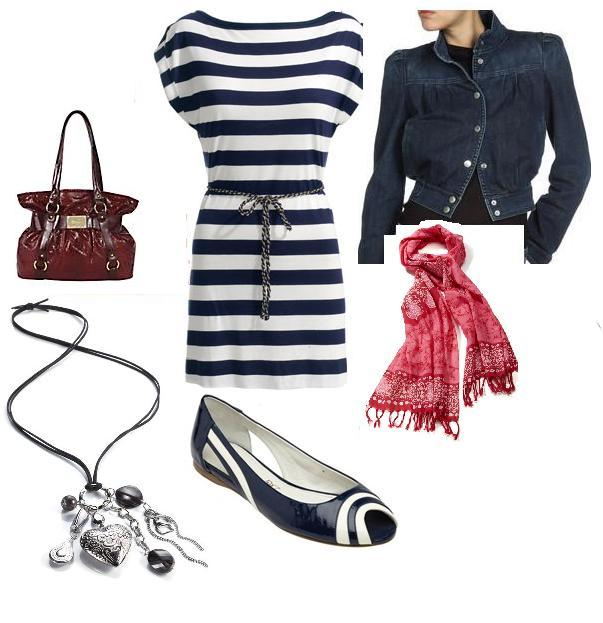5636cf7d8b Debenhams Gionni shoulder bag £38.40 2. Monsoon Sylvie stripe tunic £38 3.  Brand Alley Les Tropeziennes navy blue and white wave flats £12.50 4.