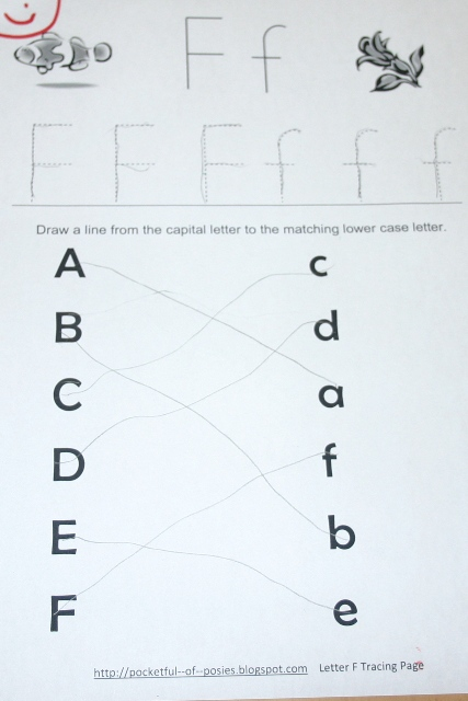 Common Worksheets » Tracing The Letter F - Preschool and ...