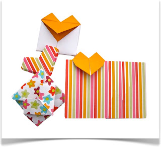 Origami Hearts via @paper_kawaii