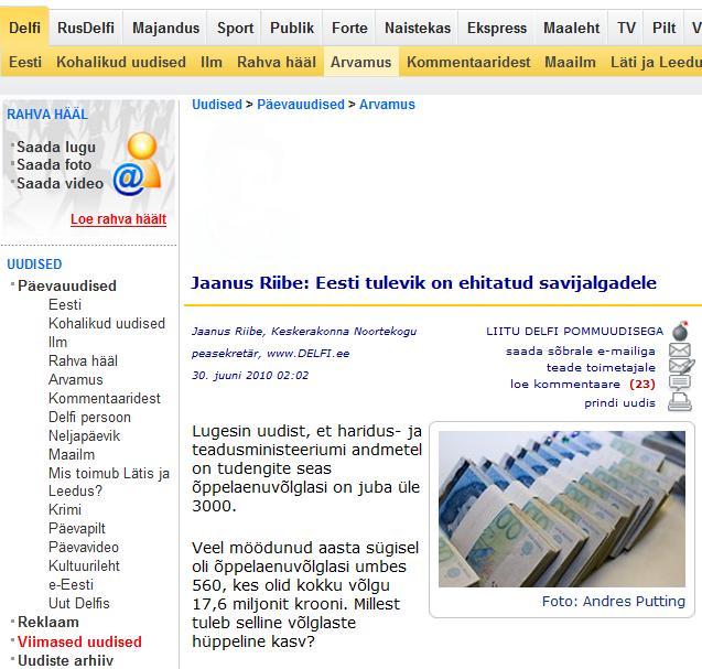 dda485867fb Eesti tulevik on ehitatud savijalgadele