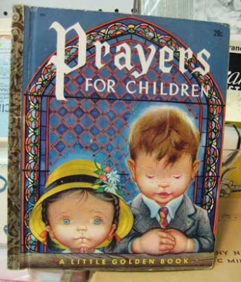 Book cover of Prayers for Children with two oddly drawn alien-looking children on it