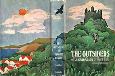 Original watercolor cover and back cover of The Outsiders of Uskoken Castle