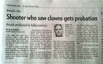 Shooter Who Saw Clowns Gets Probation headline