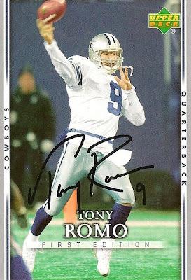 on sale 6480a 4a586 Donna's TTM Autographs: YAHOOOOOO!!!! TONY ROMO AUTOGRAPH IN ...