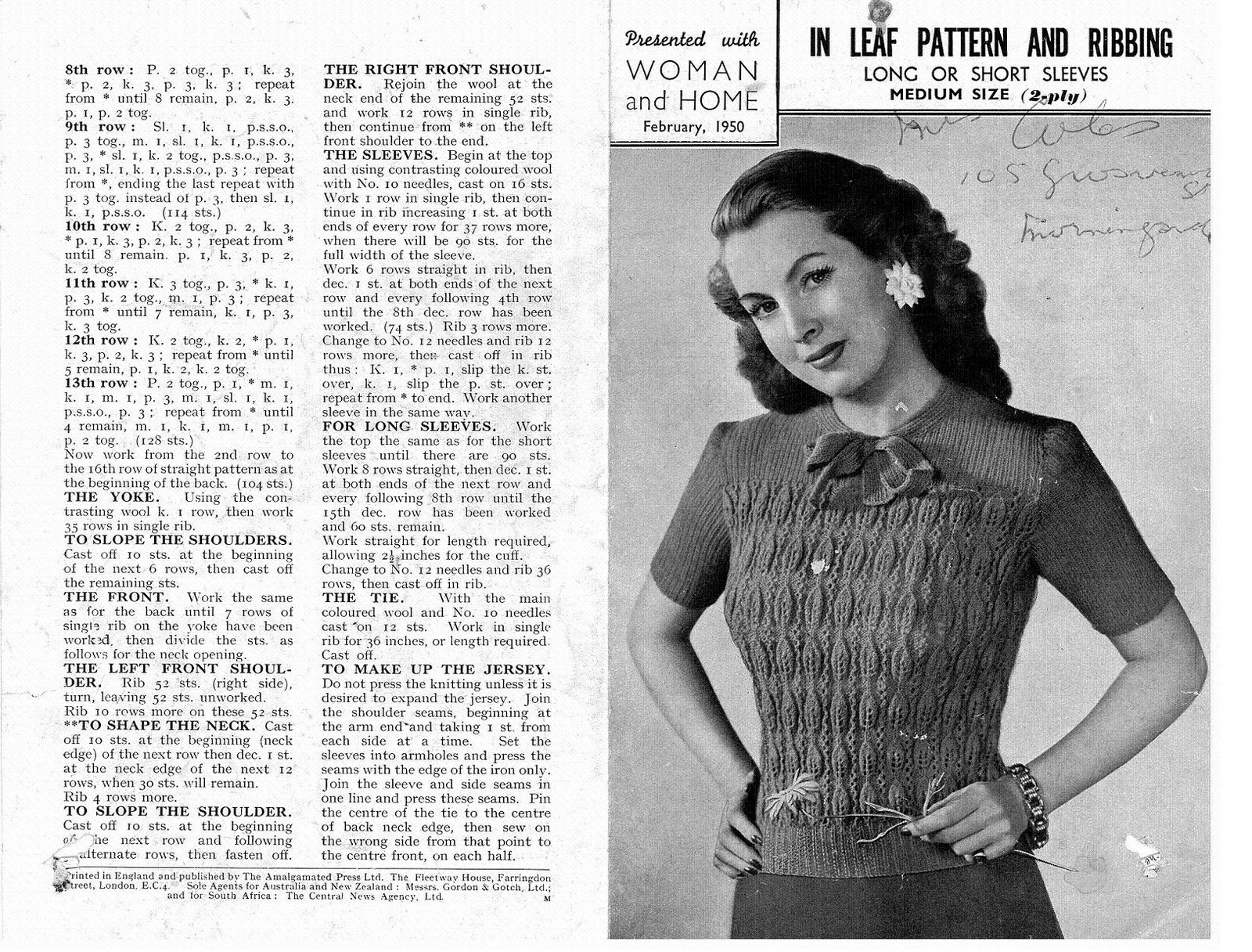 Knitting Patterns For Vintage 171 Patterns