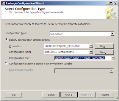 RDA Corp - Business Intelligence and SQL Server: SSIS Table