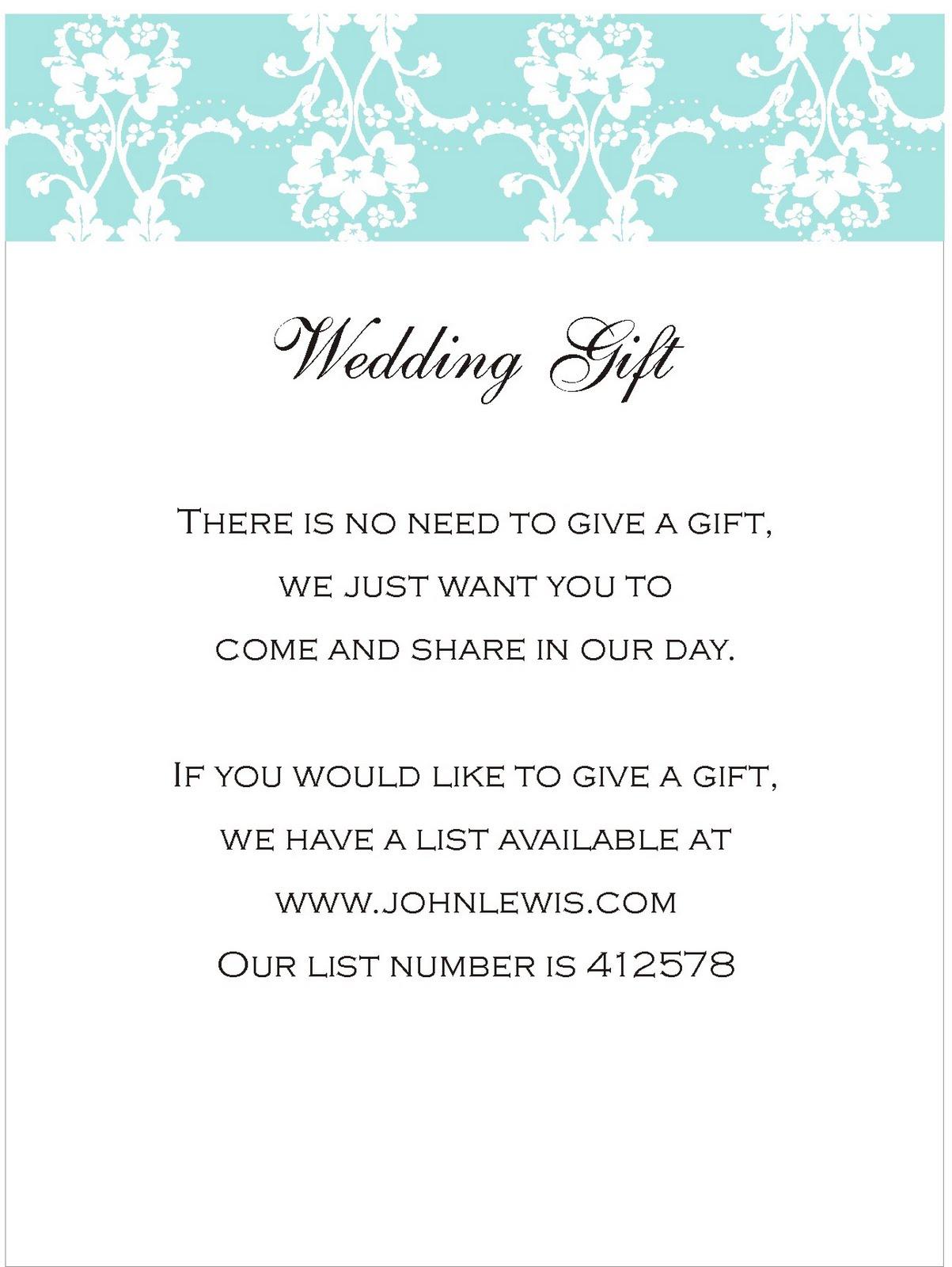 Wedding Gift Thank You Wording Photo Album Weddings Center – Sample Wedding Thank You Card Wording for Money