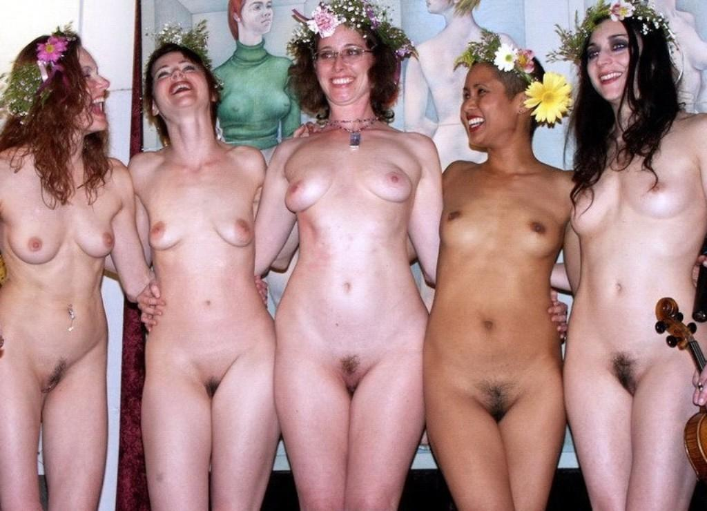 happy girls busted naked