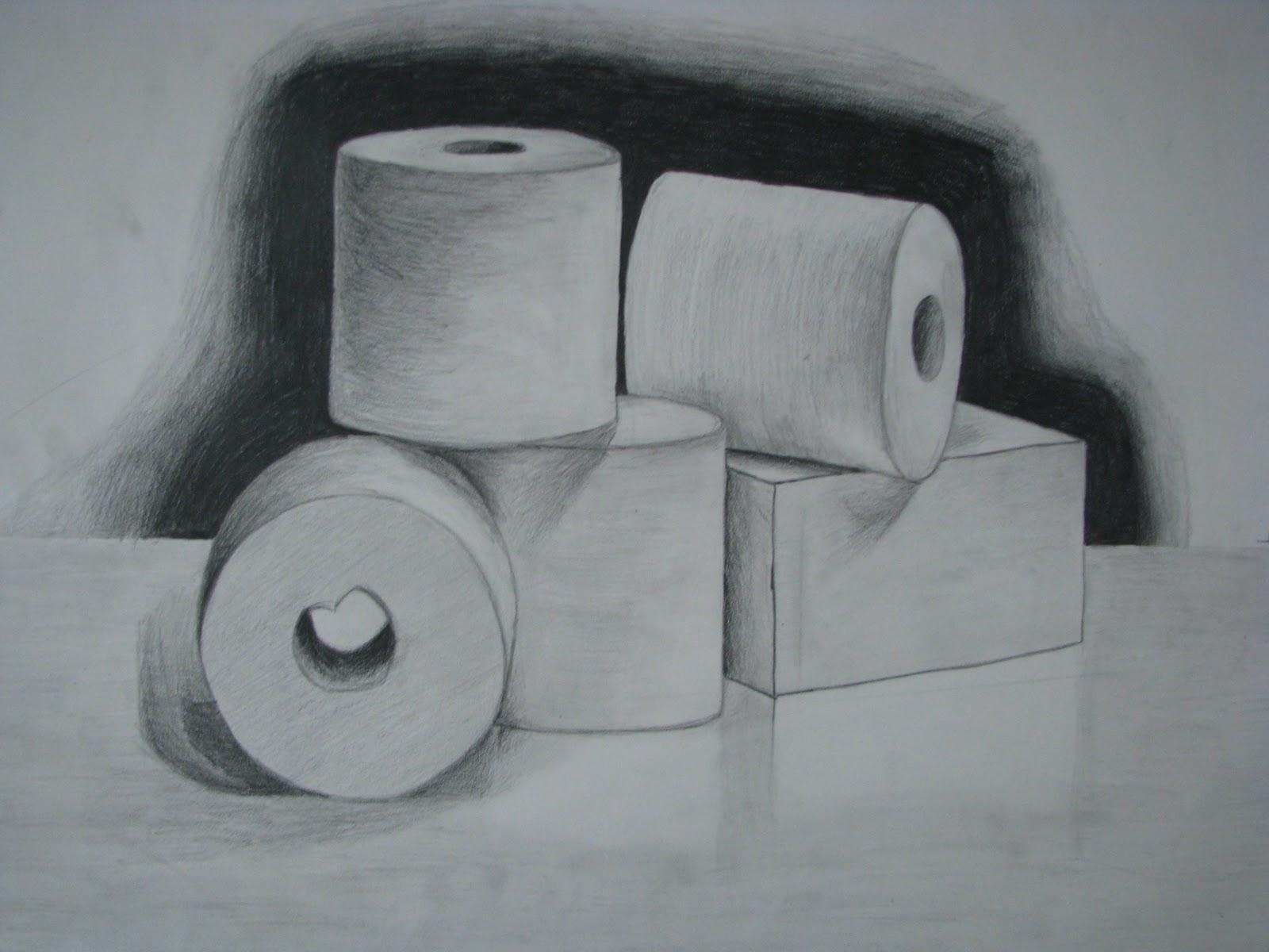 My Art: Sketch of Toilet Paper Rolls