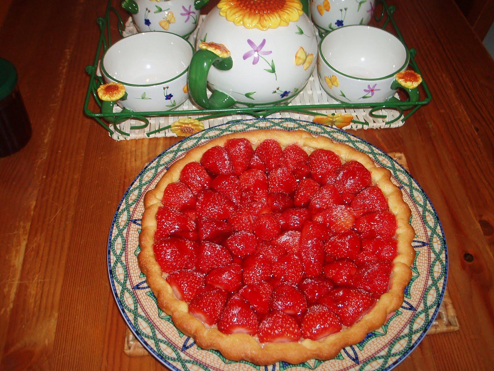 la cuisine a des couleurs une autre jolie tarte aux fraises. Black Bedroom Furniture Sets. Home Design Ideas