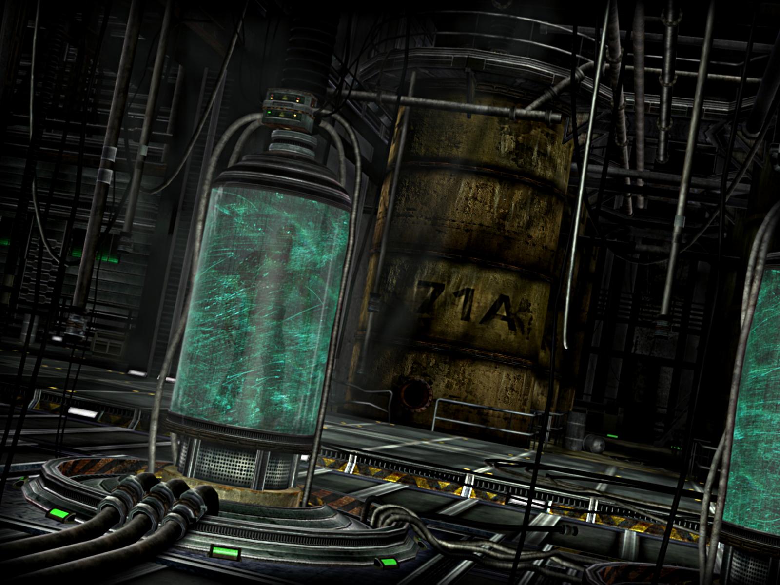 horrific design  replicant stasis laboratory