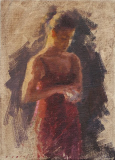The Secret 5x7 Art Female Figure Oil Painting A Day On Panel