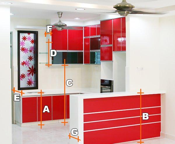 A Ketinggian Table Top Kabinet Dapur Dari Lantai Ke Permukaan Kerja 34 Inci B Bar Counter 42