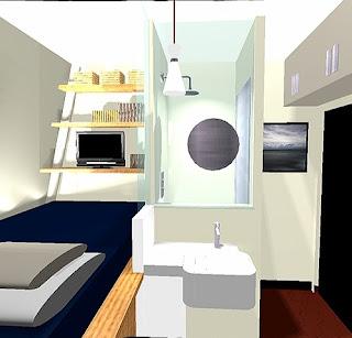 solutionappart am nagement d 39 une chambre de bonne de 6m2. Black Bedroom Furniture Sets. Home Design Ideas