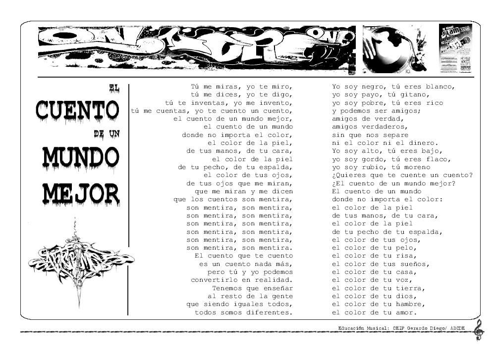 Aula De Música Ceip Gerardo Diego El Cuento De Un Mundo Mejor