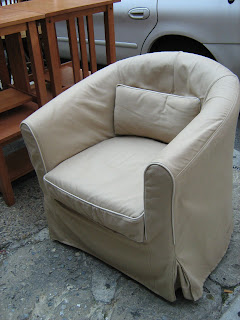 Uhuru Furniture Collectibles Ikea Tullsta Chair W Slipcover Sold