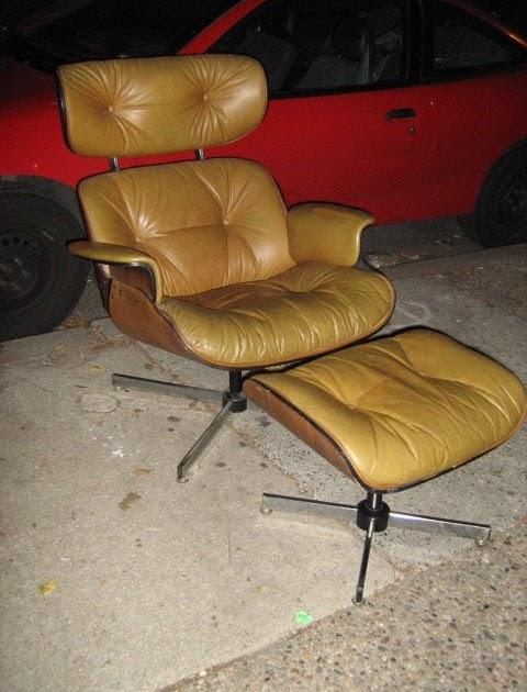 Uhuru Furniture Amp Collectibles Tan Leather Eames Knock