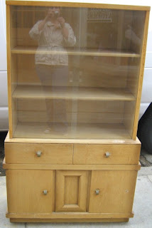1950 S Limed Oak Small China Cabinet Reduced Sold