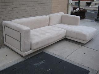 Ikea Microfiber Sectional Sofa Sold