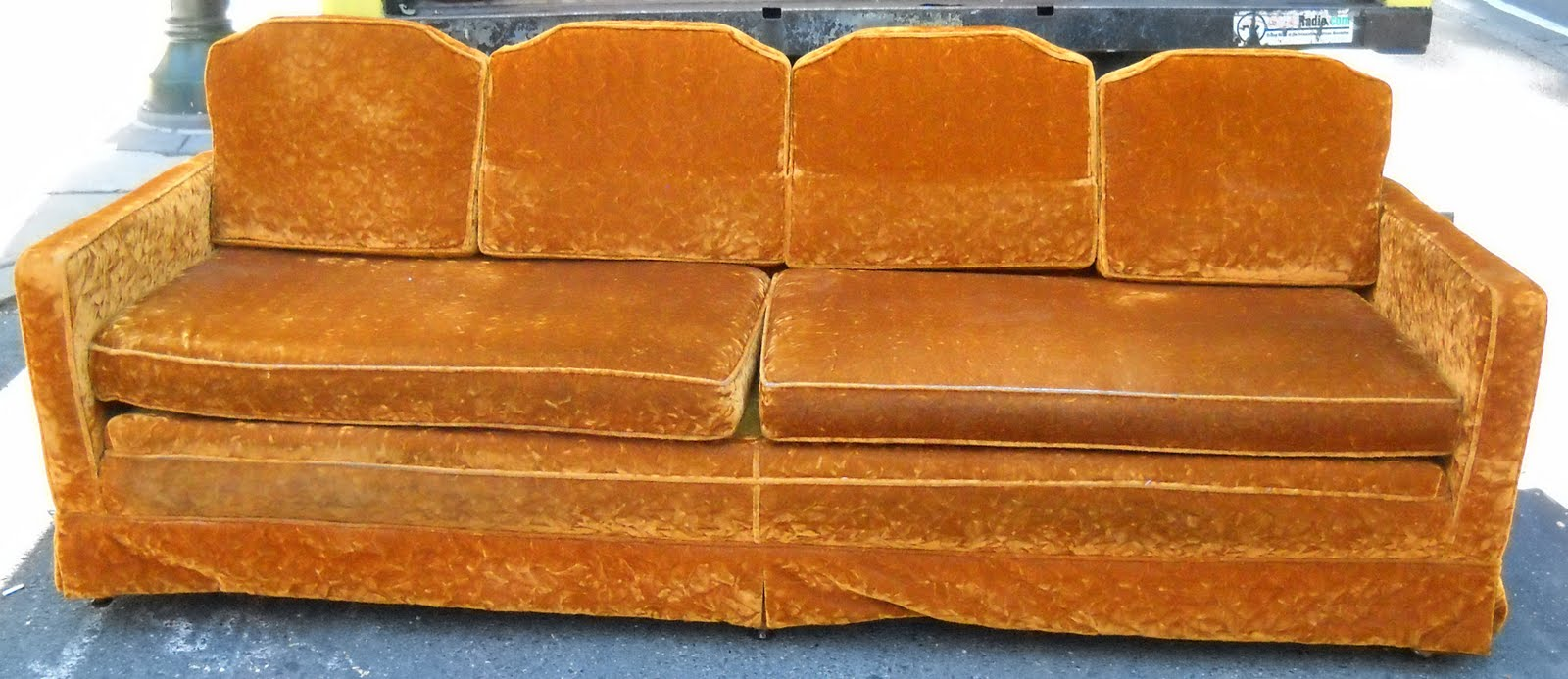Outstanding Uhuru Furniture Collectibles Retro Burnt Orange Couch Sold Machost Co Dining Chair Design Ideas Machostcouk