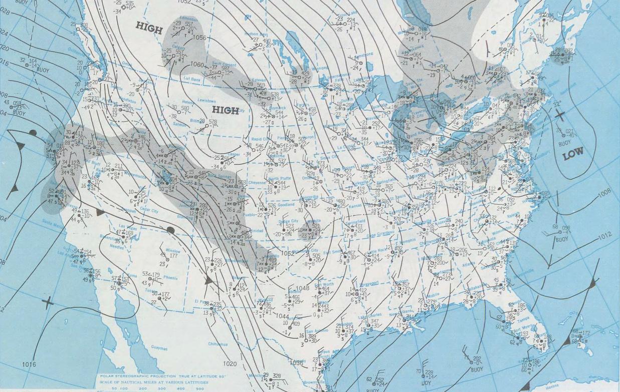 Arkansas Weather Blog The Historic December 1983 Arctic Outbreak - Pressure-map-of-us