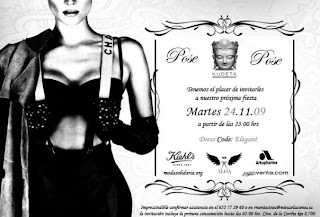 Evento Super Especial 24/Nov/2009 Invitación Desfile-Presentación Colección Crucero ALOA. Copa y Cóctel  en KUDÉTA.