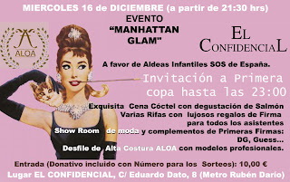 """SUPER EVENTO """"MANHATTAN GLAM"""" EN EL CONFIDENCIAL. MADRID – 28010"""