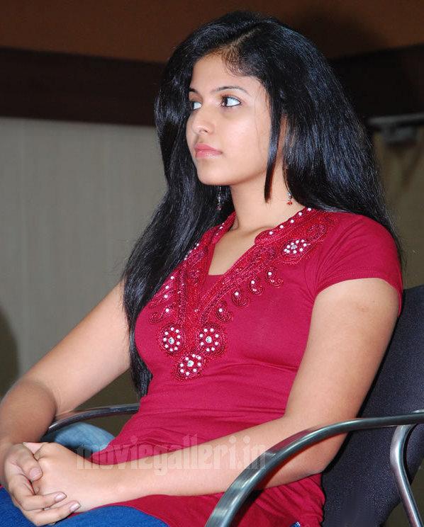Tamil Actress Anjali Photos In Rettaisuzhi Audio Launch