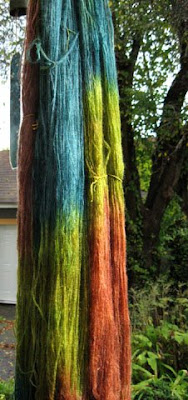 Dyed cashmere skeins