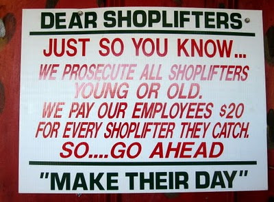 We Prosecute Shoplifters