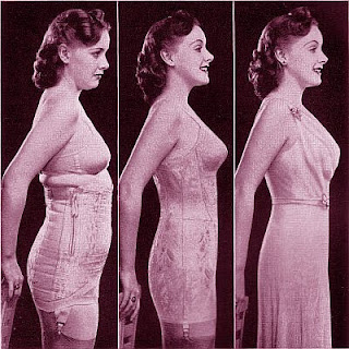 Corsets helped women achieve a feminine posture