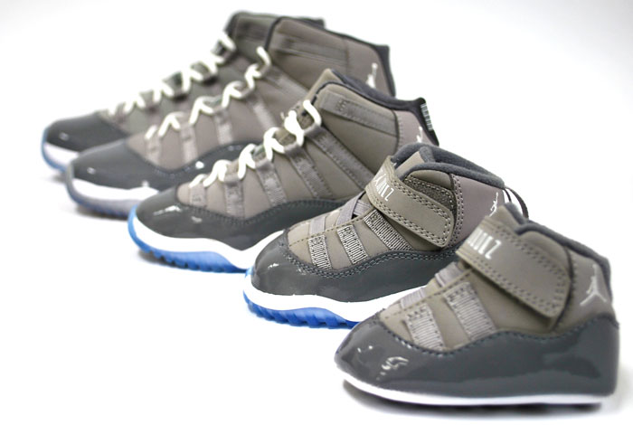ab2e6ed60167 ... Air Jordan Retro XI (11) Cool Grey for the Whole Family kids ...
