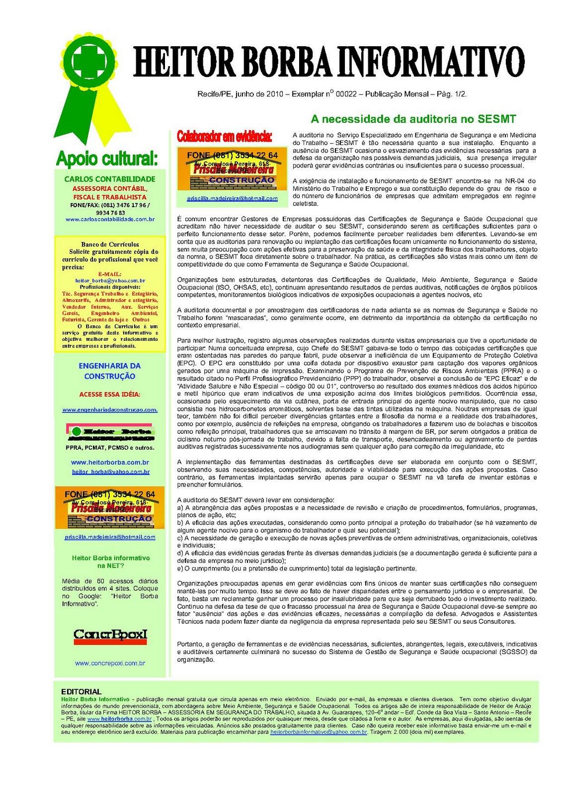 e1b9614fdcc10 HEITOR BORBA INFORMATIVO: HEITOR BORBA INFORMATIVO N 0022 JUNHO 2010