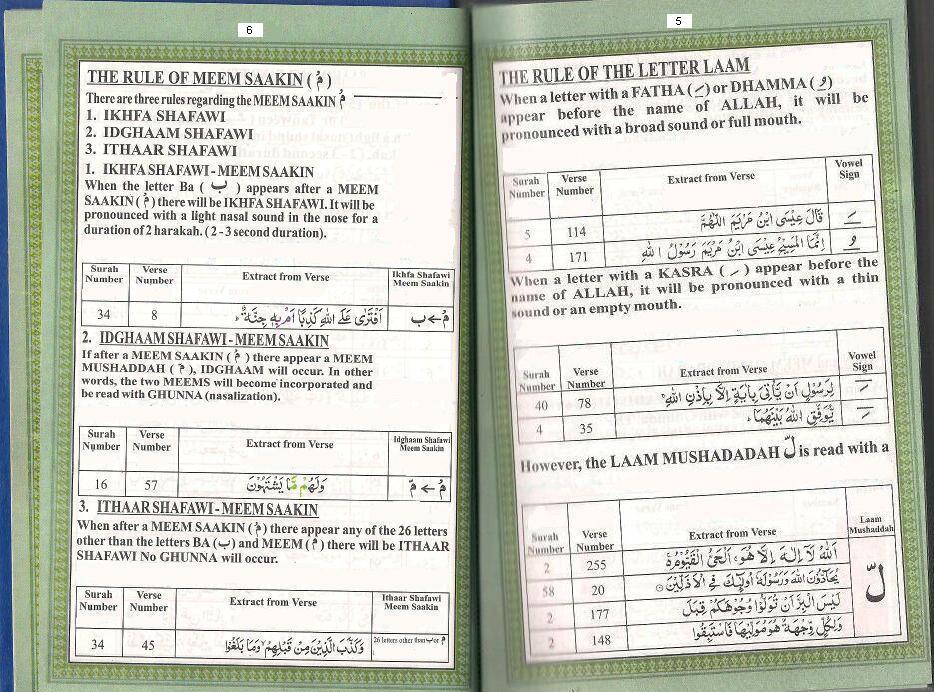 Tajweed Rules To recite Quran: The Rule Letter Of LAAM & NOON SAAKIN