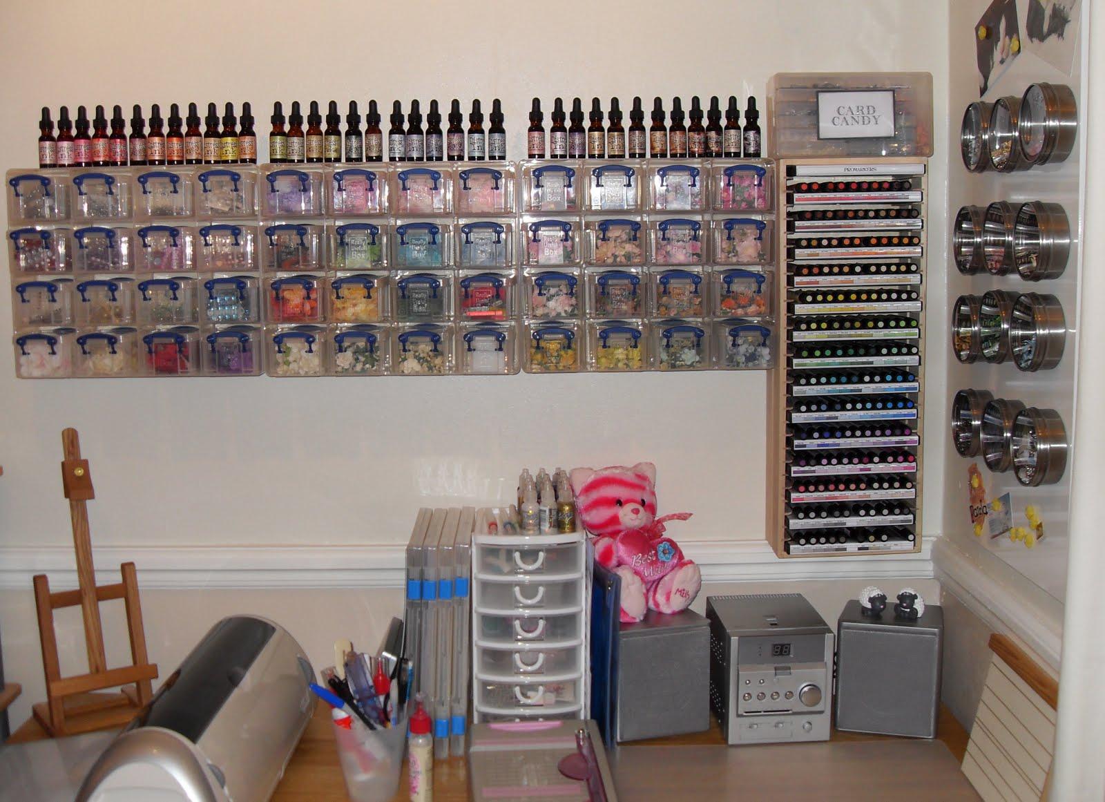 paulaholifieldcrafts: My craft room - UPDATED!!!