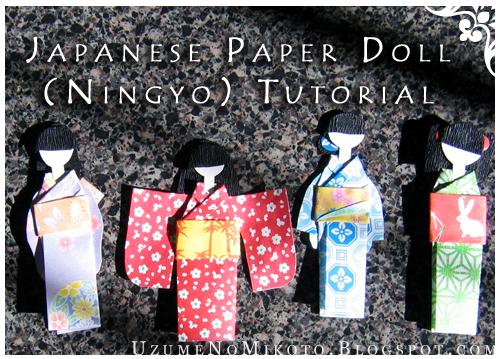 Handmade origami kimono doll bookmarks (B406-408) | Poupée ... | 359x500