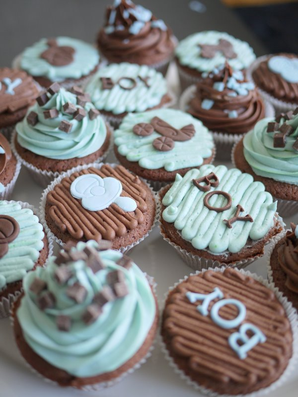 Living Room Decorating Ideas: Baby Boy Shower Cupcakes