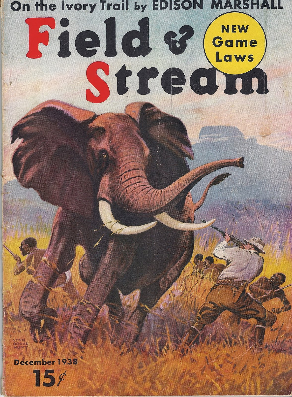 papa nui says field and stream covers 1930 s
