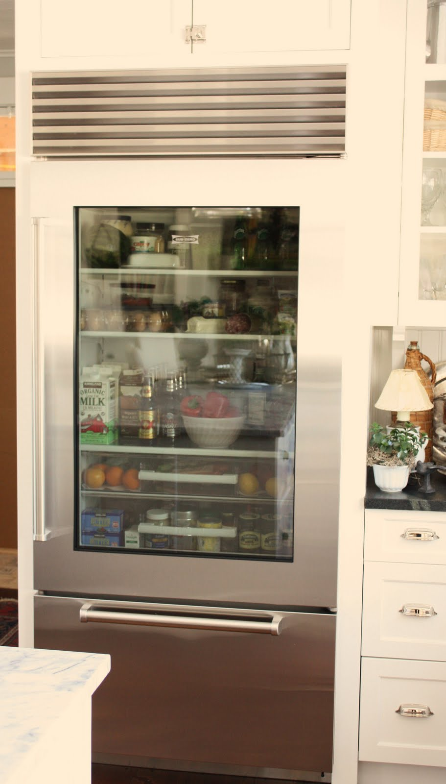 for the love of a house: the glass door refrigerator