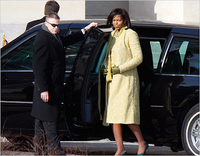 Michelle Obama inauguration dress coat | ShoppingandInfo.com