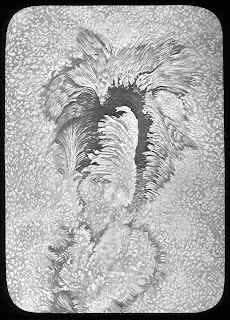L1150-015 Lantern Slide, showing the form of a 'typical sunspot' by Langley, c.1880s © NMM
