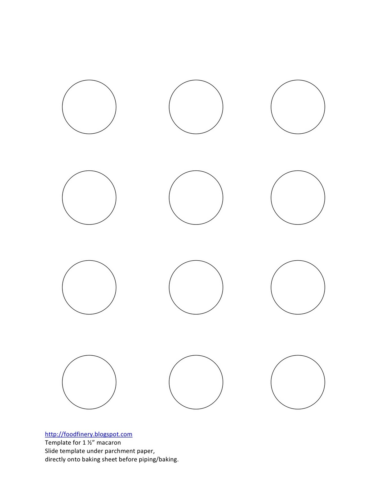 Printable Macaron Piping Template from southernfatty.com