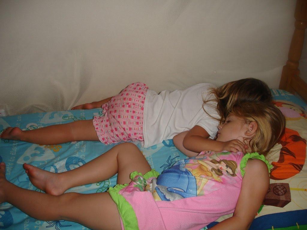my daughter sleeping in panties