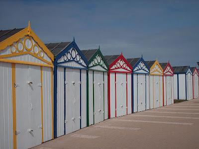 Beach Huts On Great Yarmouth Beach