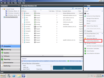 HYPER-V,SYSTEM CENTER AND AZURE: Import VHD or VMDK into SCE