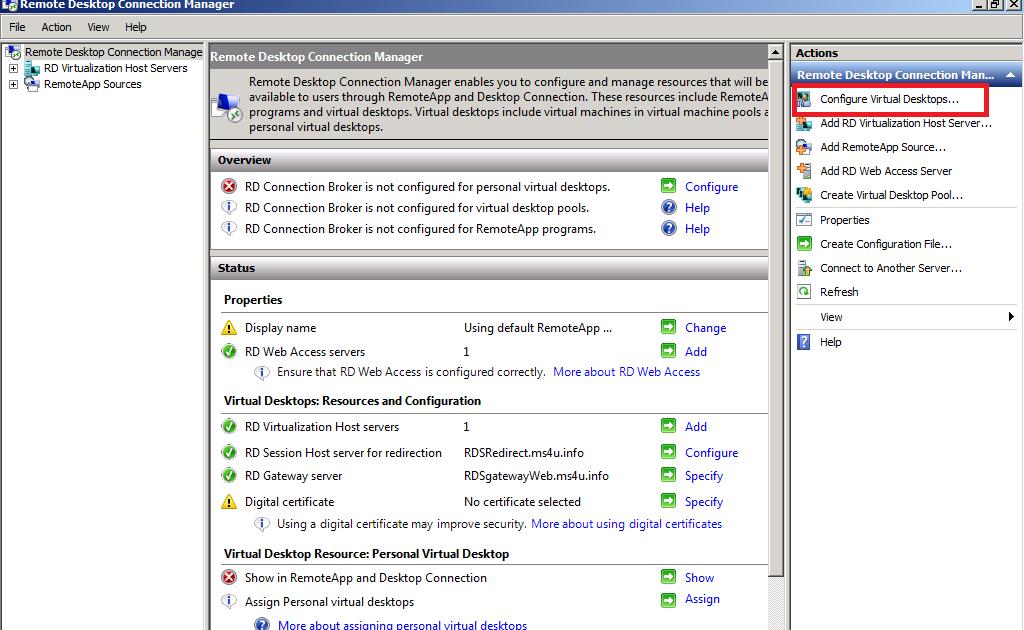 My IT Blog : 6 Building VDI using Remote Desktop Services (RDS)